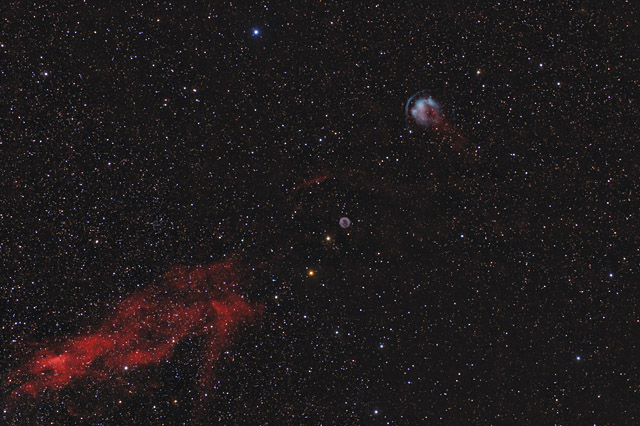 HFG1 and Abell 6 - Two Planetary Nebulae in Cassiopeia