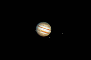 Jupiter with the Great Red Spot 1/3/12 at 19:55 PST