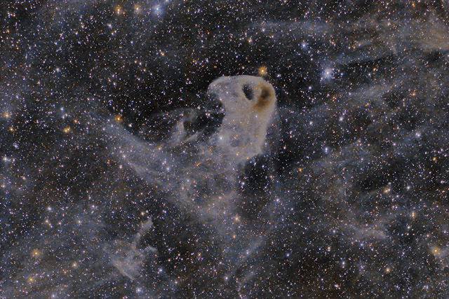 LBN 777, the Baby Eagle Nebula in Taurus