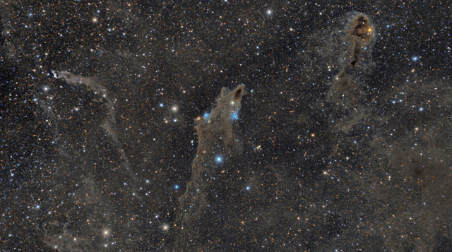 LDN 1235, LDN1251, and vdb152 - Dusty Nebulae in Cepheus