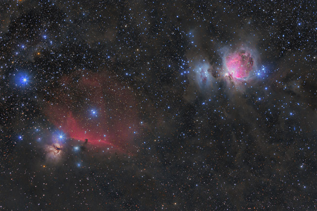 M42 and the Horsehead Nebula 200mm Widefield