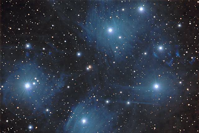 SUPERCEDED-NEWER VERSION AVAILABLE---M45 - The Pleiades Open Cluster in Taurus