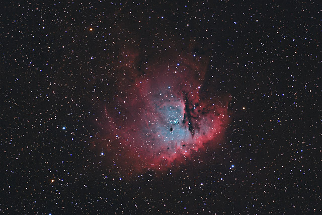 NGC 281 - The PacMan Nebula in HaOIIIRGB