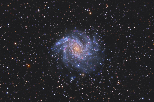 NGC 6946 - The Fireworks Galaxy in Cepheus and Cygnus