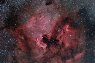 The North American and Pelican Nebulae in HaRGB