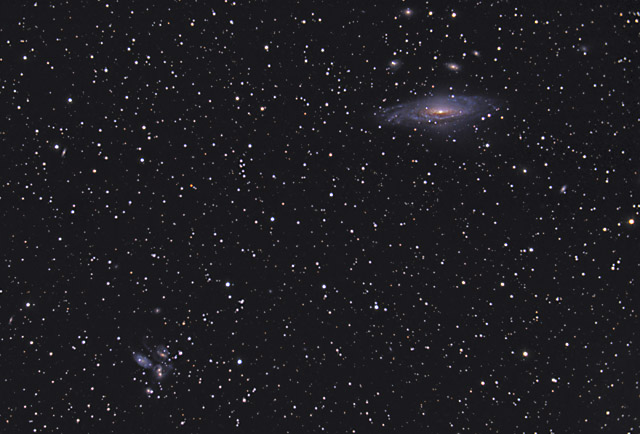 NGC 7331 and Stephan's Quintet in Pegasus