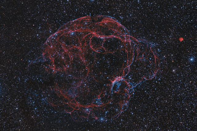 The Spaghetti Nebula in HaOIIIRGB